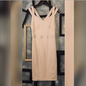 Armani Exchange Nude Strappy Body-con Mini Dress